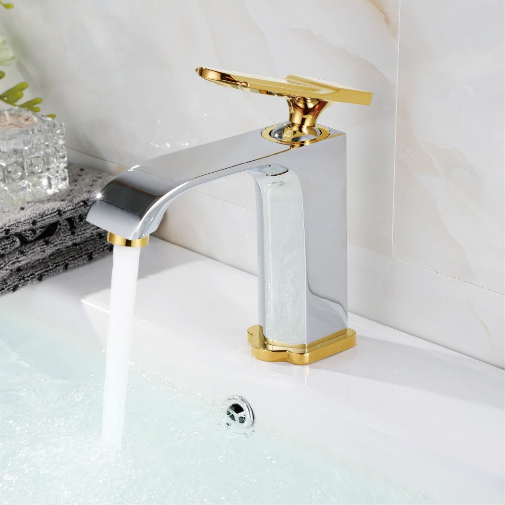 New High Quality Gold Plate Copper Brass Chrome Waterfall Bathroom - Chrome and gold bathroom fixtures