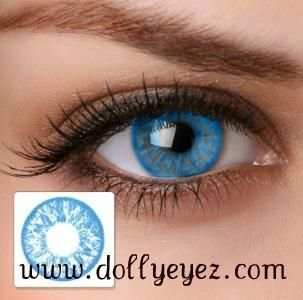 e593ffcb0f  16.00 a pair Baby Blue non prescription color contacts (1 pair)BK FREE  SHIPPING