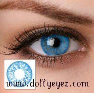 1600 a pair Baby Blue non prescription color contacts 1 pairBK