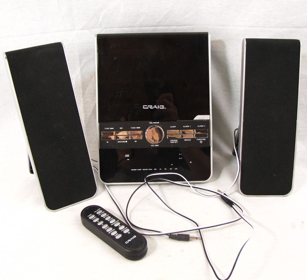 Craig Vertical Cd Shelf System With Am Fm Stereo Radio