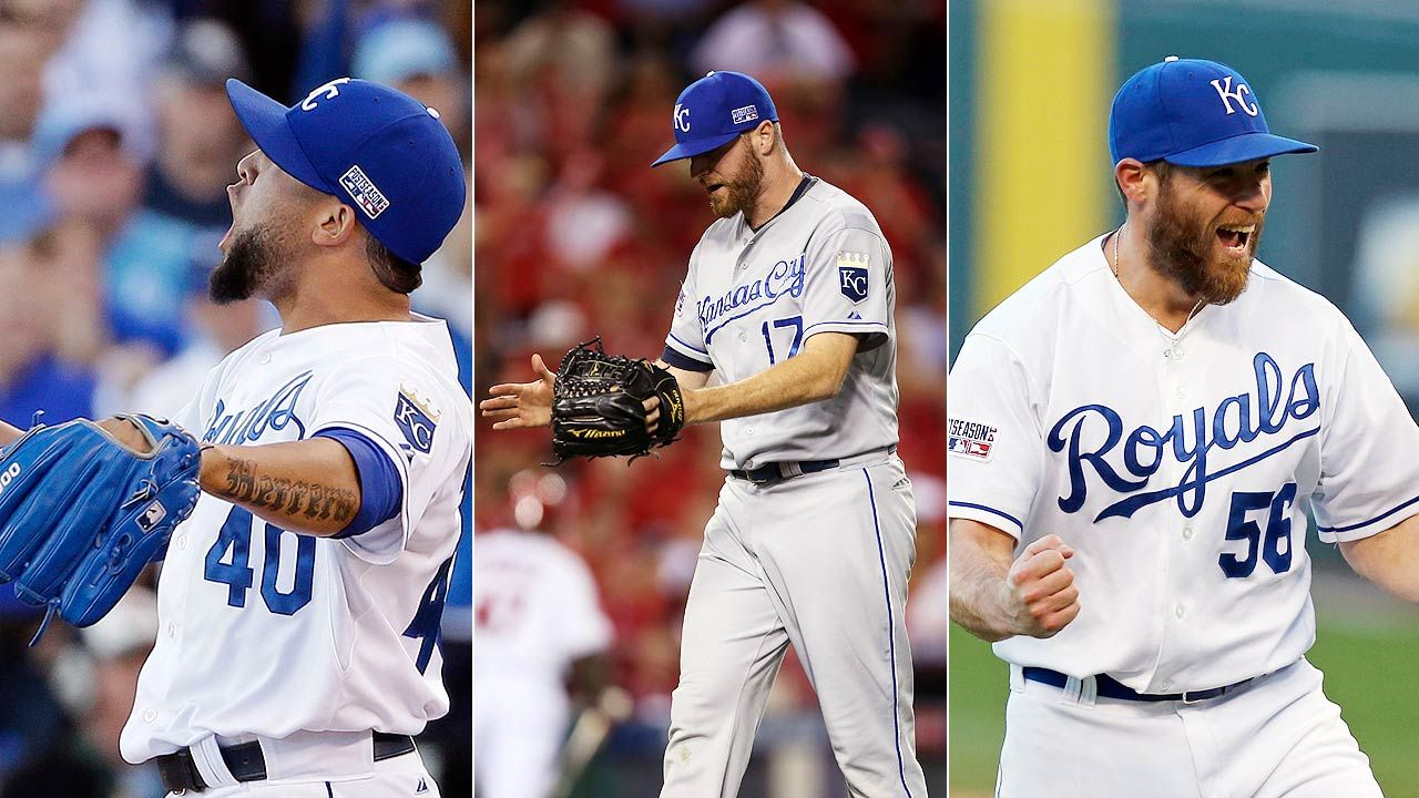 Trio of Royals relievers signing names under best ever