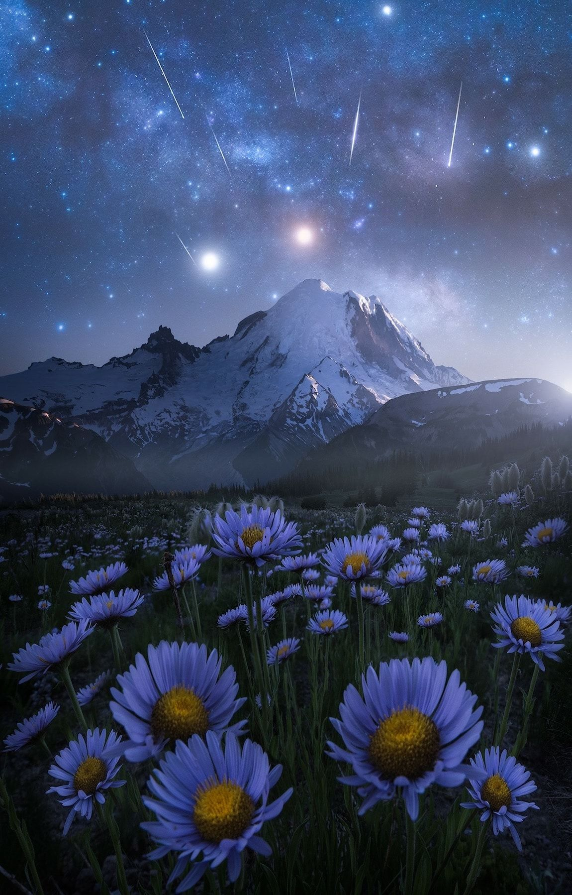 Dreamy Landscapes At Night Inspired By Space Stars And Video Games Night Landscape Photography Dreamy Landscapes Night Landscape
