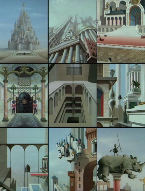Architecture impossible : le chateau dans le roi et l'oiseau