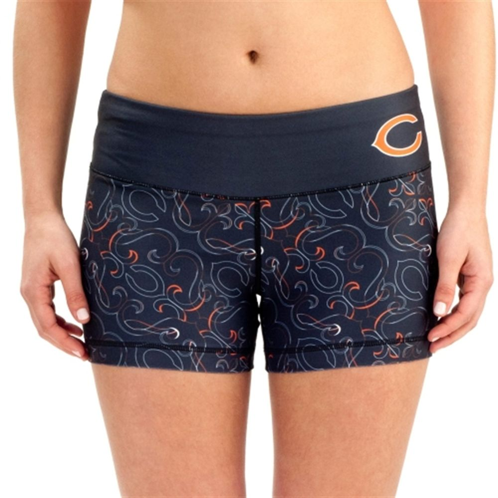 1b1ddefe Chicago Bears Women's Thematic Print Shorts – Navy Blue | Bears ...