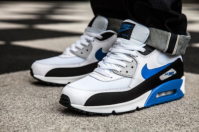 Nike Vêtements De Sport Air Max 90 Essentiel - Blanc / Hyper Cobalt / Noir