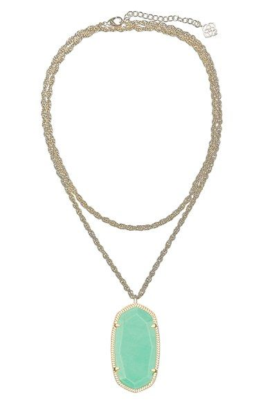 59784f8cc Kendra Scott 'Rae' Long Pendant Necklace | Nordstrom | material ...