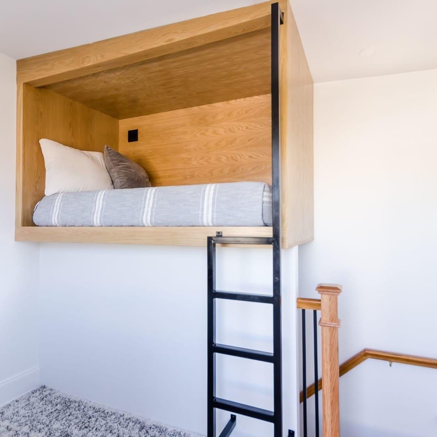 homemade queen loft bed