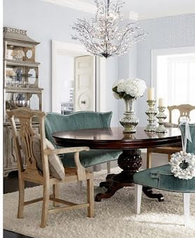 Settee Lovethis Is Gorgeous Ah I Was Just Telling Tim That I Magnificent Dining Room Table With Settee Inspiration