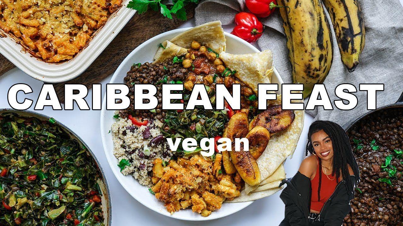 High Protein Caribbean Feast Vegan Youtube Quick Vegetarian Meals Vegetarian Recipes Easy Vegetarian Recipes