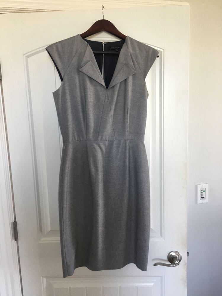 Antonio Melani Dress Grey Size 4 Fashion Clothing Shoes