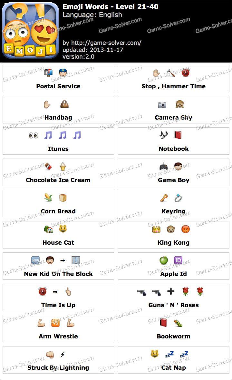 Emoji Words Level 2140 Game Solver in 2020 Emoji
