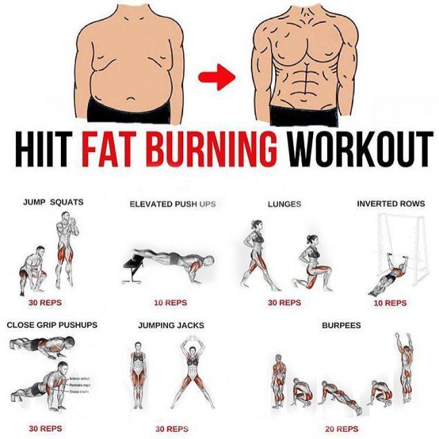 fat burn ejercicios