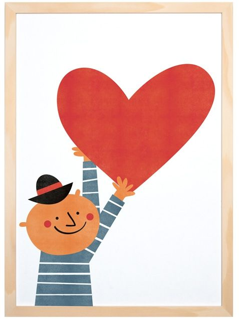 A Heart For You Poster (A3) by Blanca Gómez for the Human Empire Artist Series