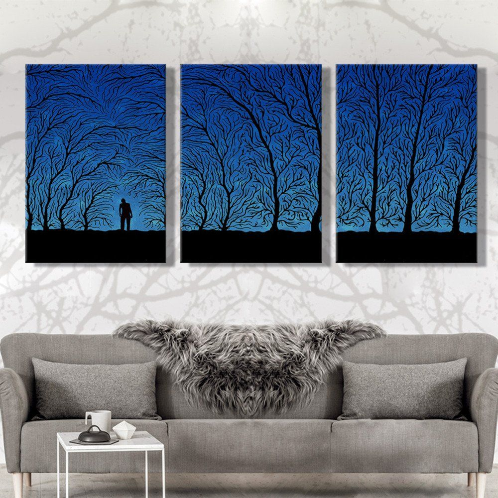 Modern Living Room Paintings Oil Painting Canvas Under The Shadow Landscape Wall Art Decoration