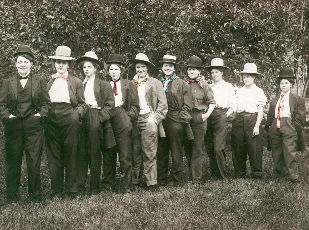 77bd51aa5ae Women Dressed as Men Ties Hats fun Girls Lesbian interest Tinted Vintage  photo Print.  24.00