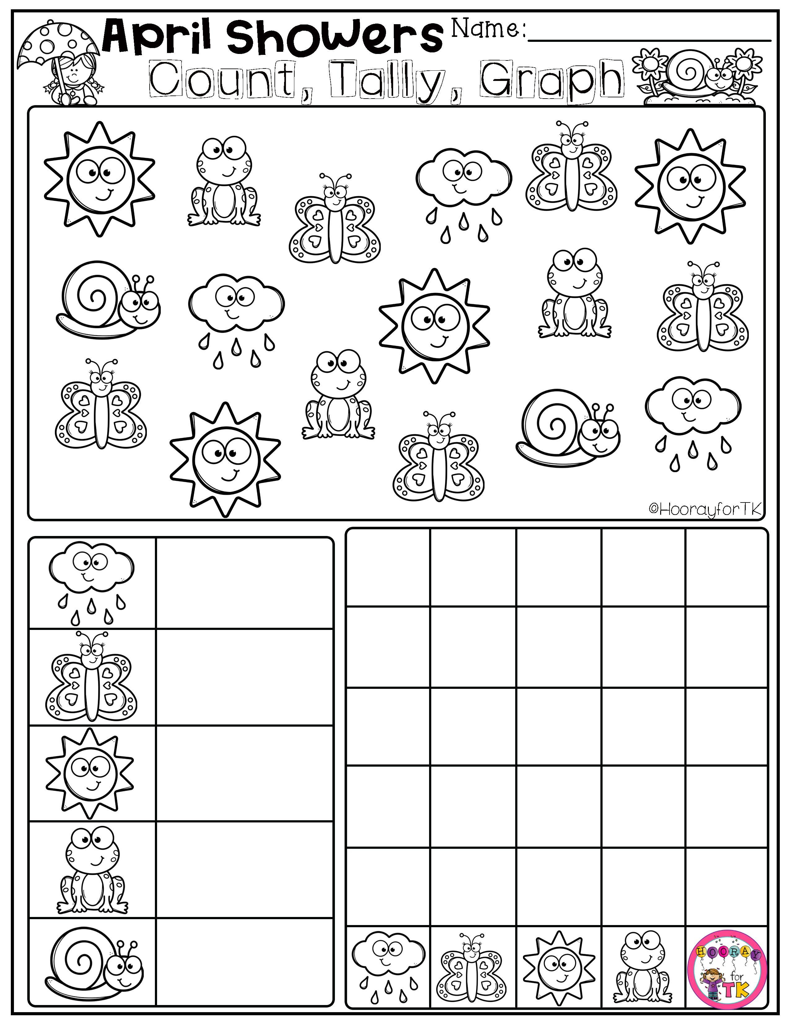 Spring Worksheets For Kids Transitional Kindergarten In