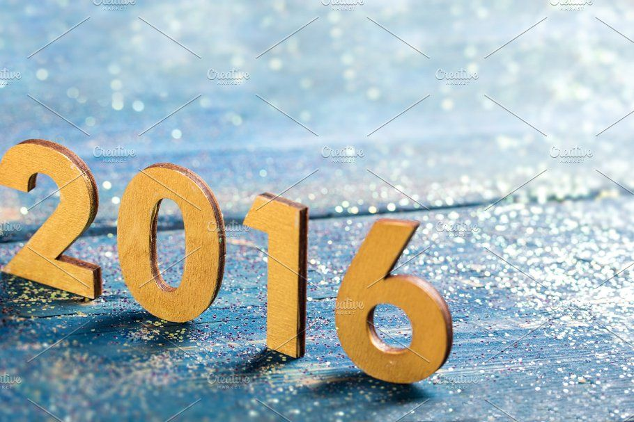 New year decoration,Closeup on 2016 in 2020 Civil