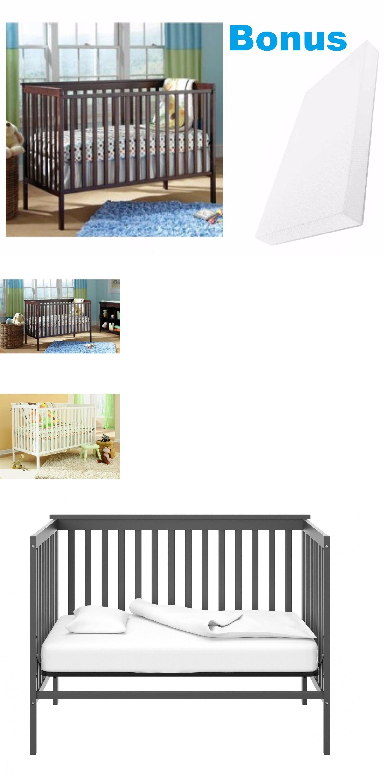 Nursery Furniture 20422 Convertible Crib Bonus Mattress Toddler Bed 4 In 1 Baby It Now Only 129 99 On Ebay
