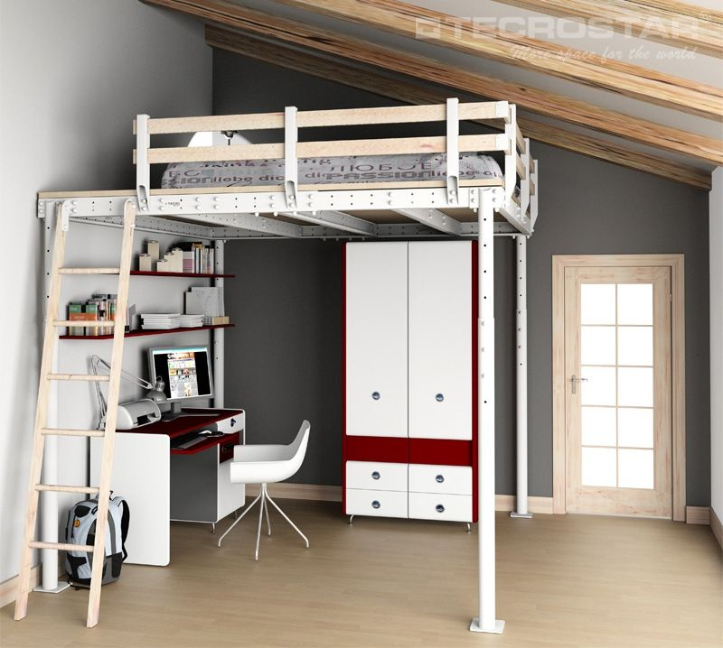 Queen Size Loft Bed Pottery Barn Bedroom Ideas Adult Loft Bed