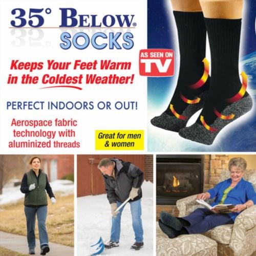 39.59$  Watch now - http://vifqp.justgood.pw/vig/item.php?t=2qb3lqz56659 - As Seen on TV 35 Below Socks Keep Your Feet Warm and Dry 5 pair Aluminized Fiber