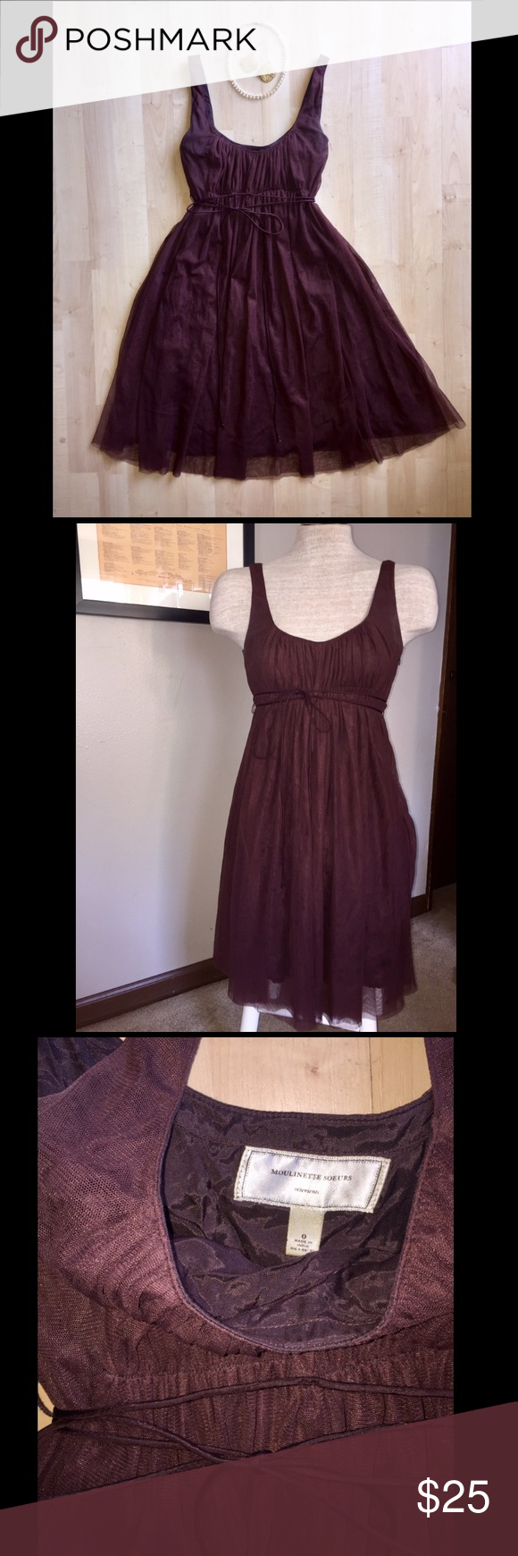 Anthropologie Chocolate Brown Cocktail Dress Lovely chocolate brown ...