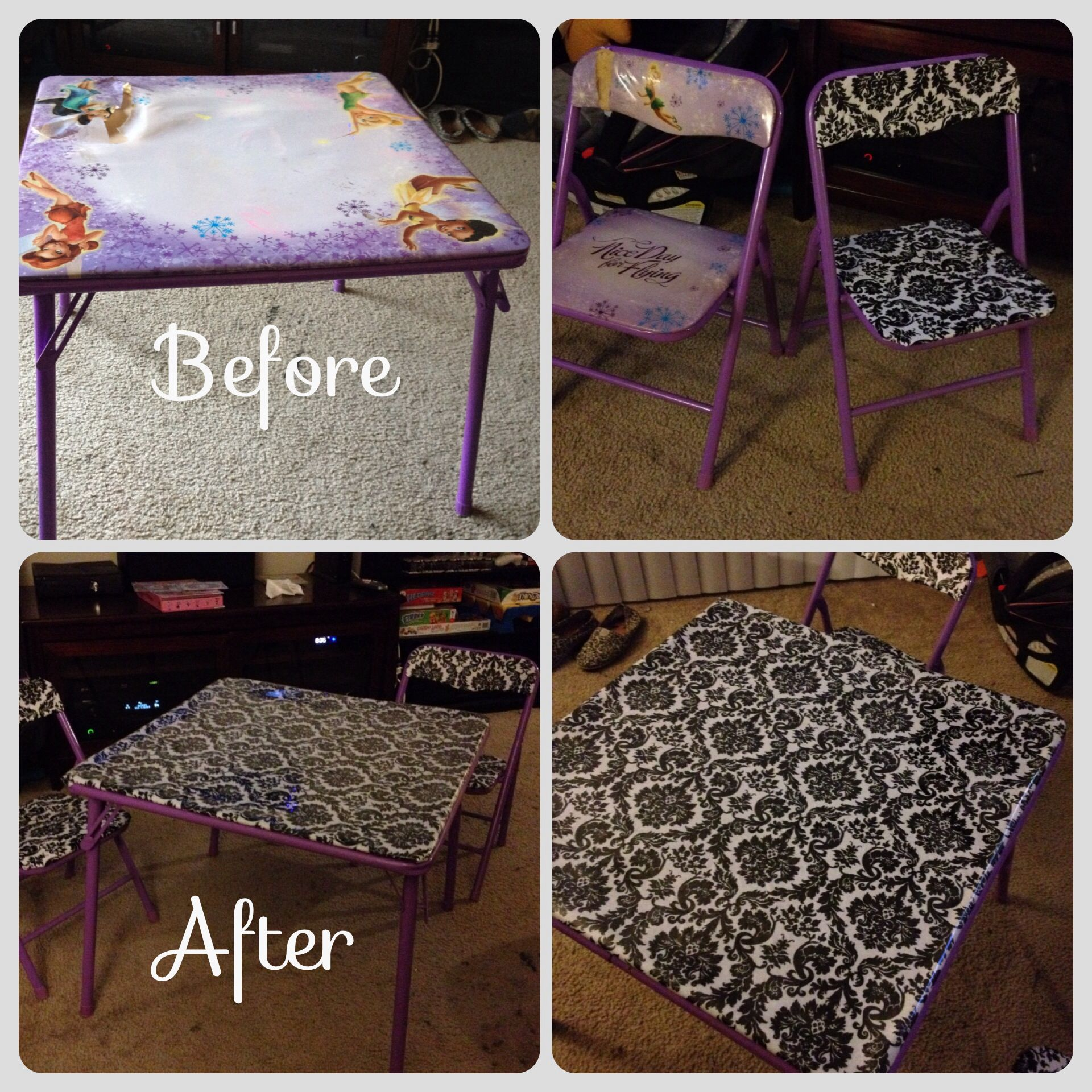 Up cycled kids table