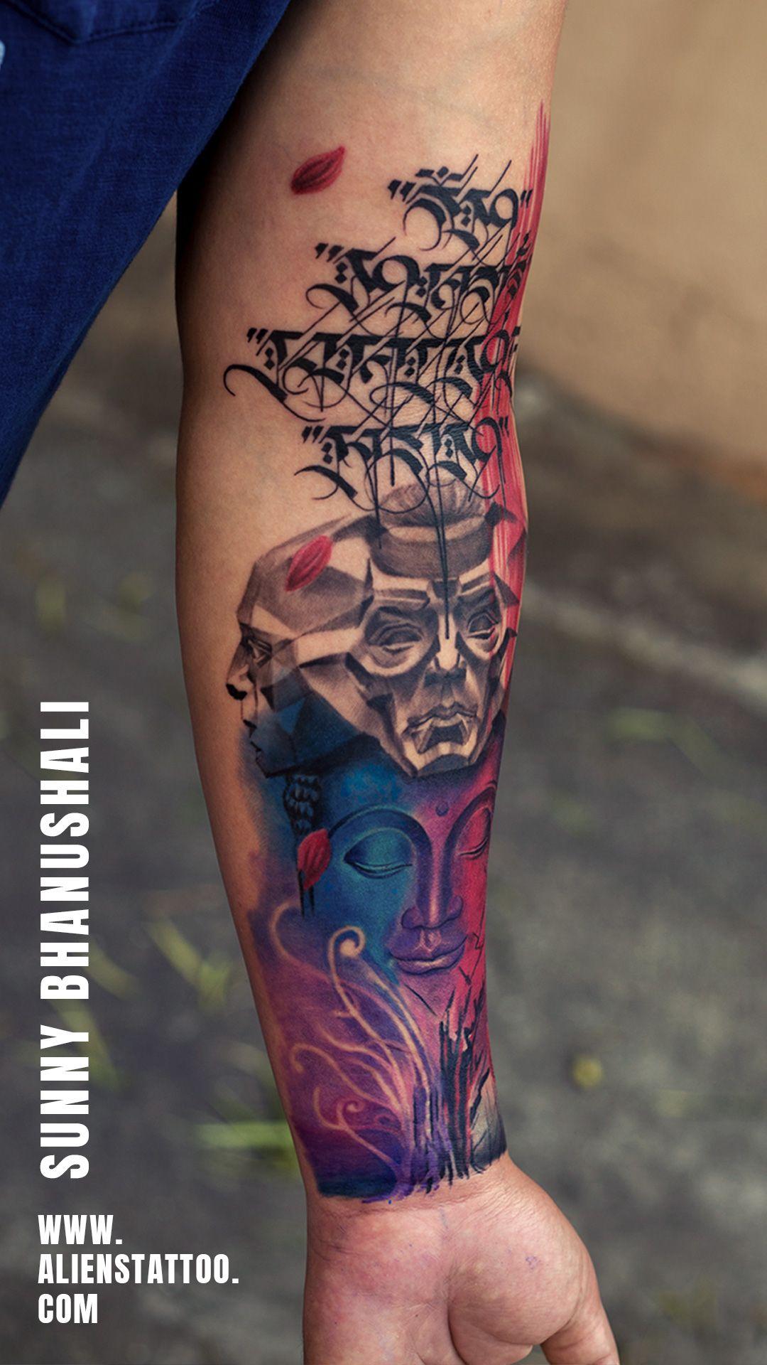 Buddha Tattoo Tibetan Script Tattoo Colour Tattoo In 2020 Tattoo Font For Men Colour Tattoo For Women Alien Tattoo