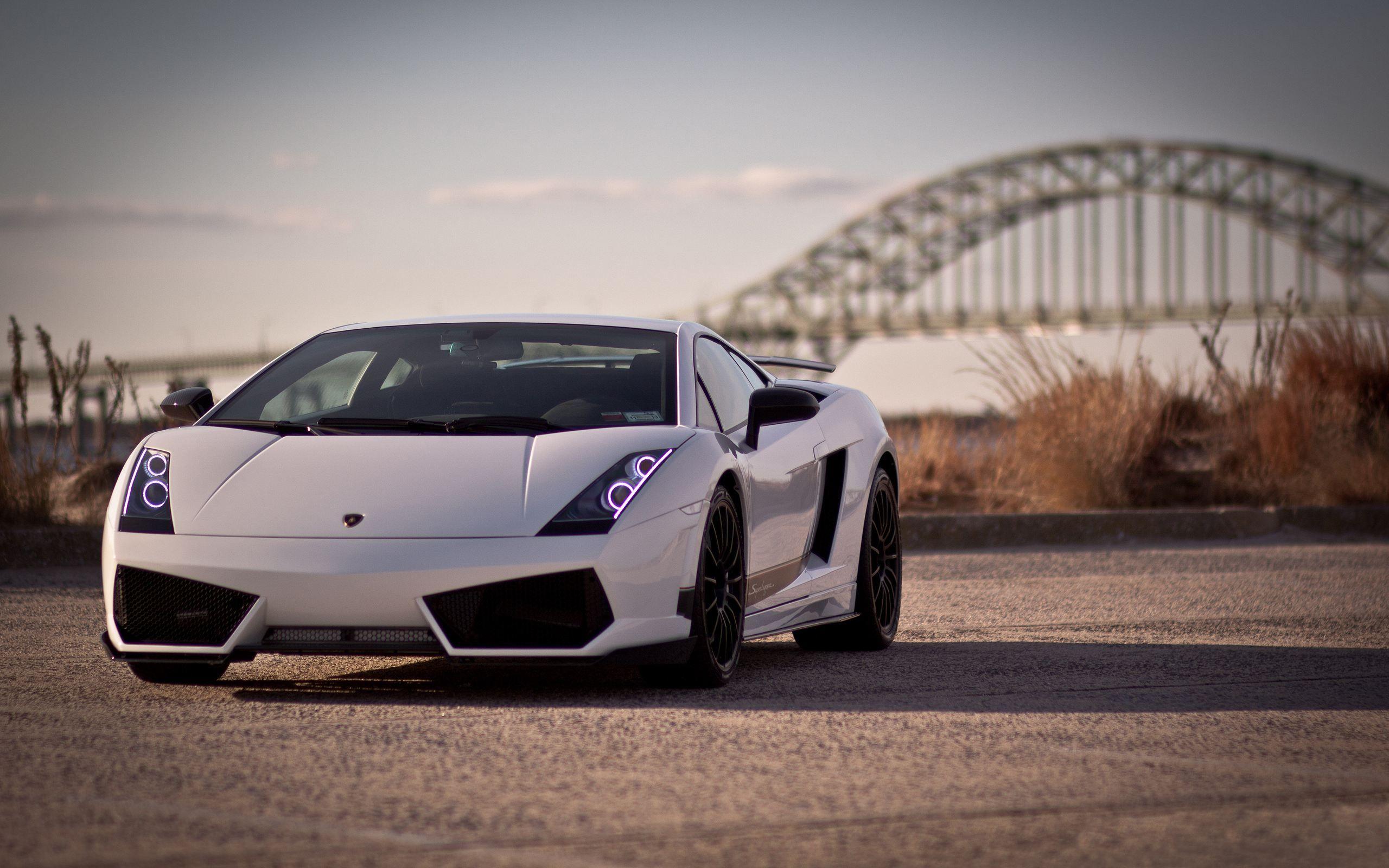 Car Backgrounds Photoshop Lamborghini Gallardo White