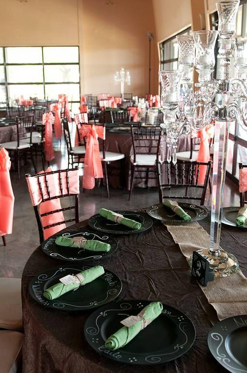 #txellentcatering #tabledecor #tabledecorating #weddingdecor #weddingdecorating #austinweddingdecor #austinweddingtabledecorating #chalkboarddecor #chalkboardtabledecor #coral #sagegreen