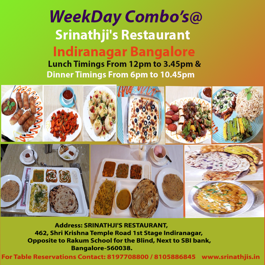 Weekday Lunch Chat Weekday Dinner Srinathji S Restaurant Indiranagar Vegan Restaurants Near Me Veg Restaurant Vegan Restaurants