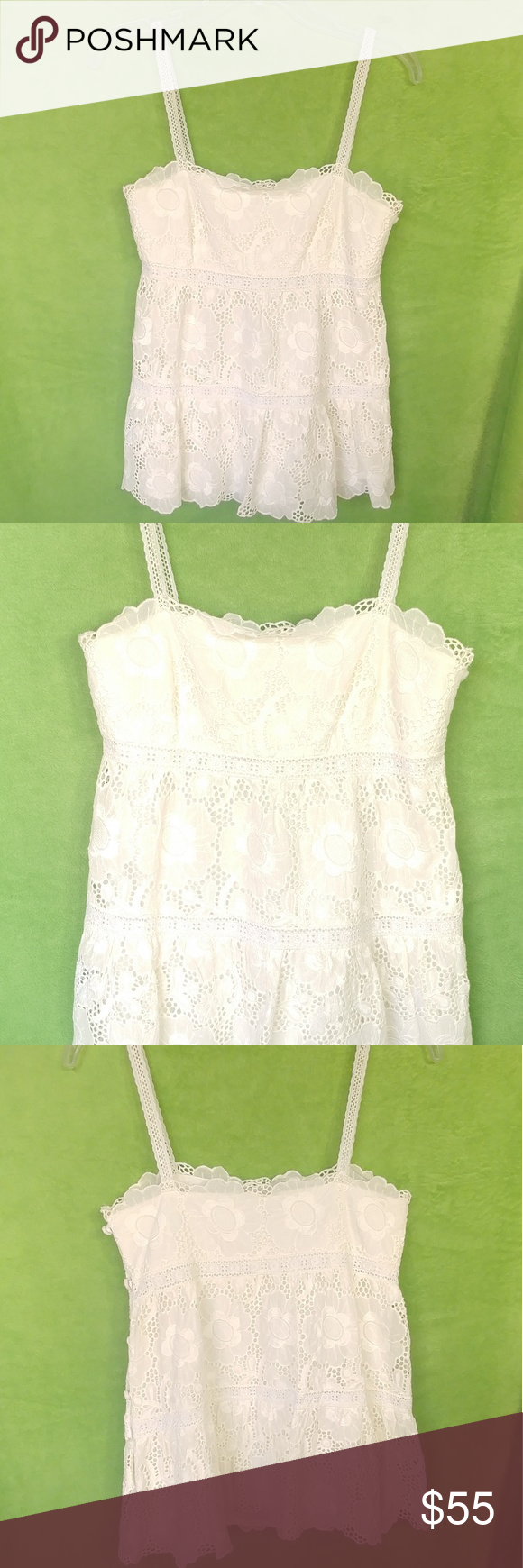 Original Milly Of New York Floral Cami Blouse Lace Cami Top Has Side