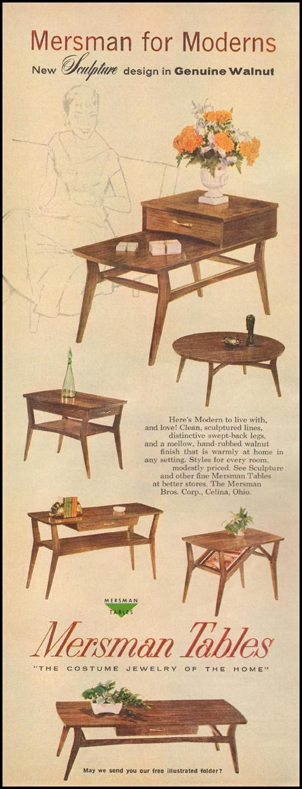 Mersman Tables Better Homes And Gardens 03 01 1960 P 116 Googie