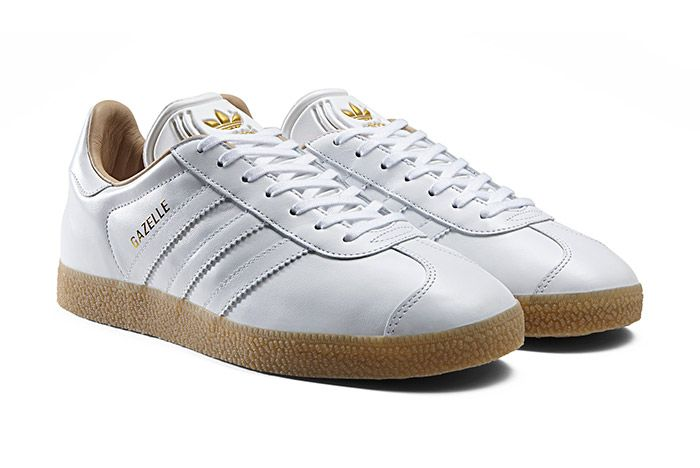 Arroyo Nombre provisional jaula  adidas Gazelle Premium Leather (White/Gum) | Adidas gazelle, Trendy shoes  sneakers, Adidas gazelle women