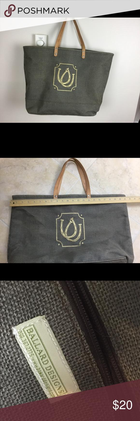 ballard design jute horseshoes jute tote beach bag excellent