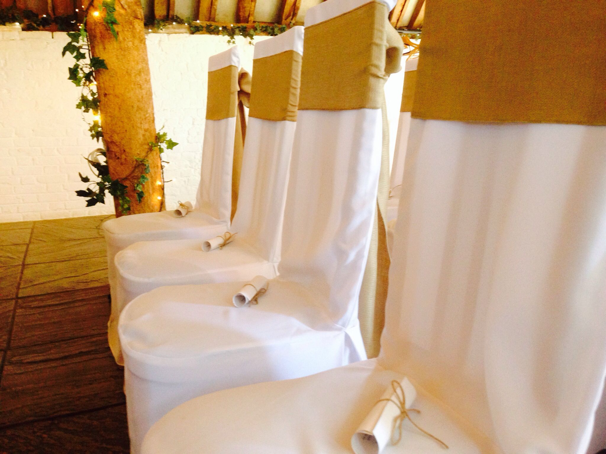 Hessian sashes www.blueorchid-events.com