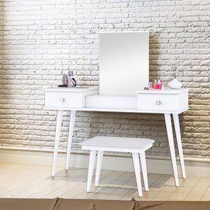Penteadeira com Espelho Josefina JB 7600 Siena Móveis Branco