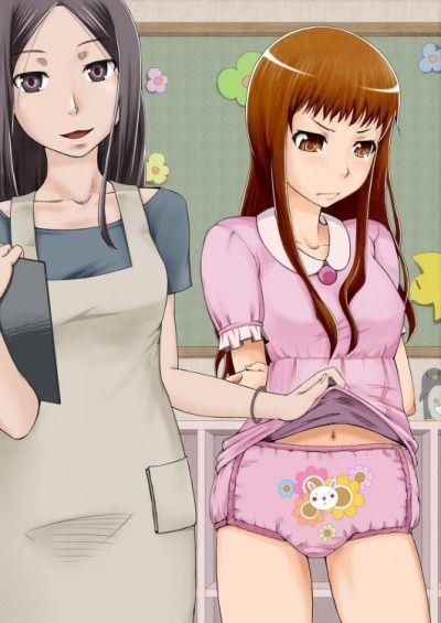 girl diaper hot anime