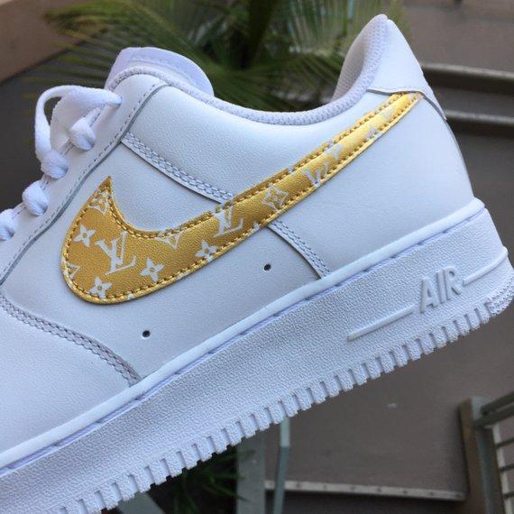 Custom Gold Nike Air Force 1
