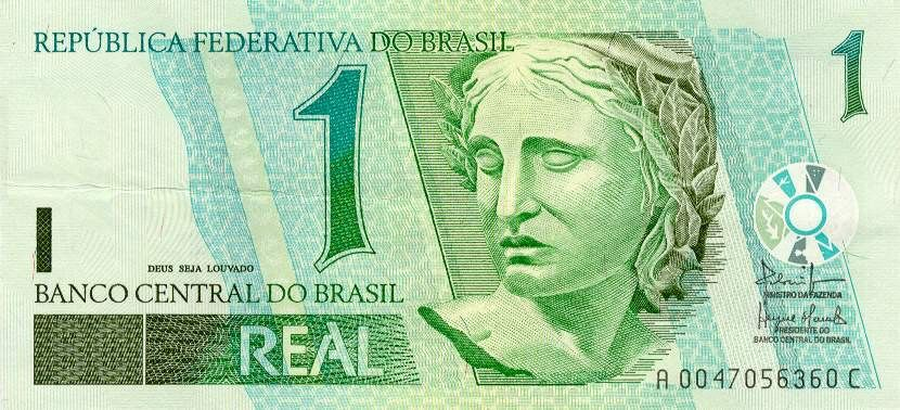 Economics: The currency in Brazil is Brazilian Reals. In the picture above we see one Brazilian ...
