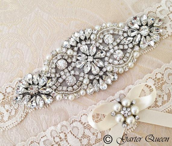 Wedding Garter Set Bridal Ivory Lace By GarterQueen