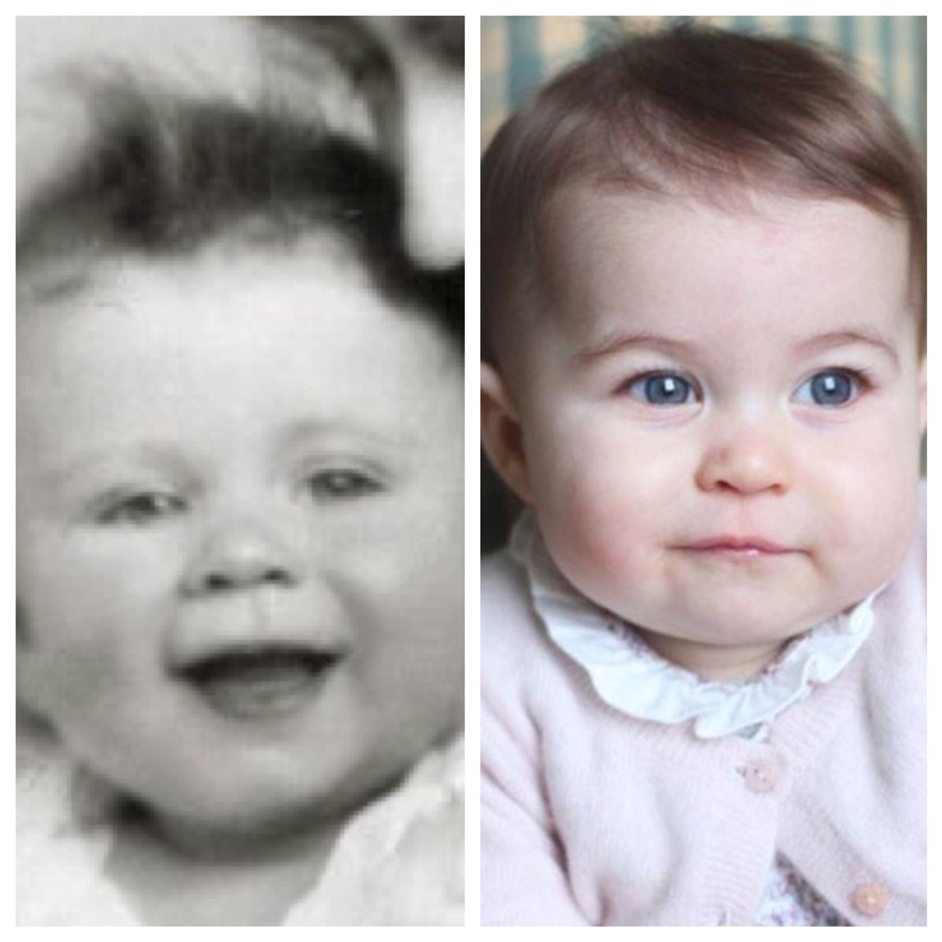 Queen Elizabeth And Princess Charlotte Some People Think She Looks Like Her Great Grandmother
