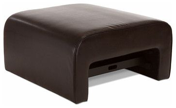 Duvall Leather Ottoman Coffee Table with Pullout Tray - modern - coffee tables - Great Deal Furniture $223 - Houzz
