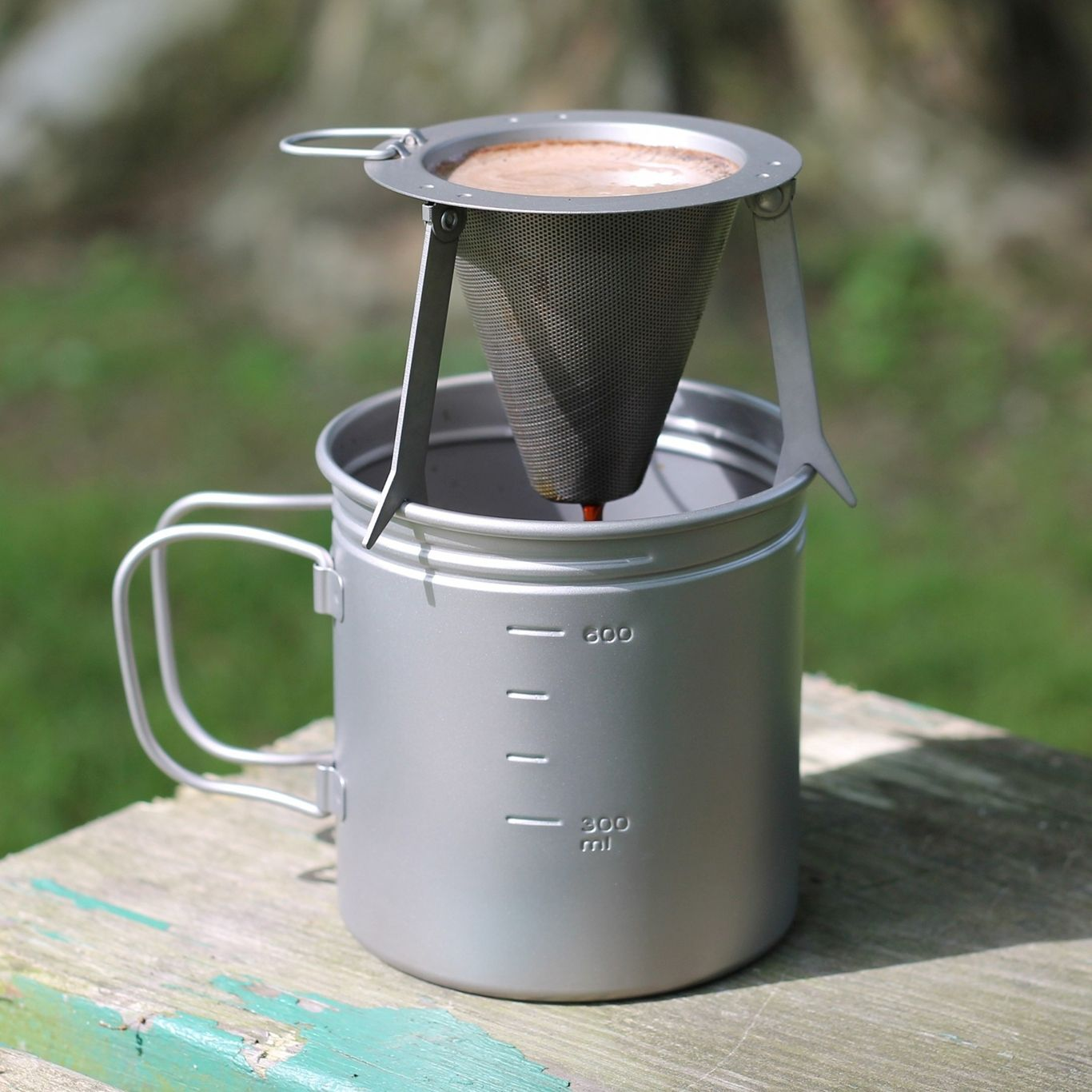 Titanium Travel Coffee Filter in 2020 Camping coffee