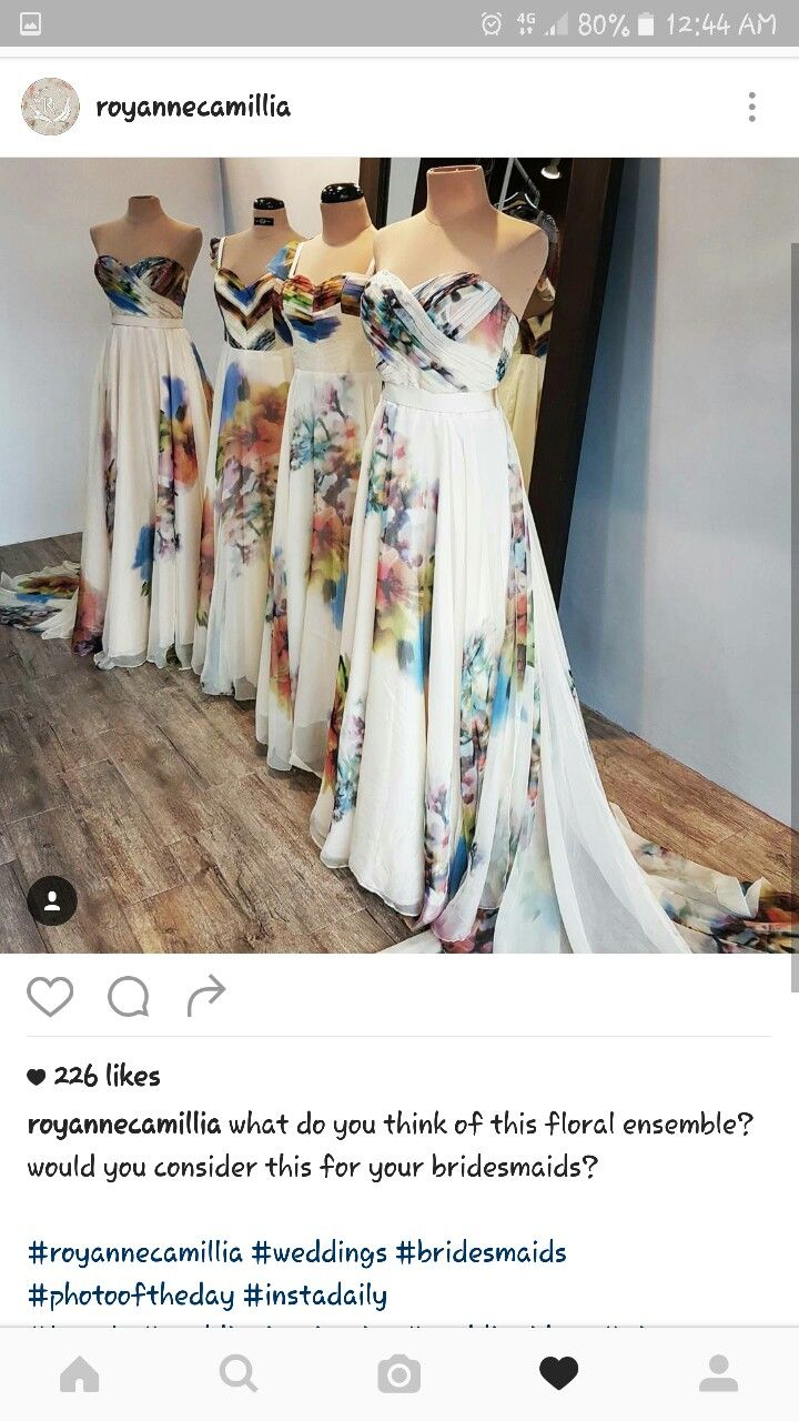 Bridesmaid gowns by RoyAnne Camillia Couture | Cool wedding ideas ...