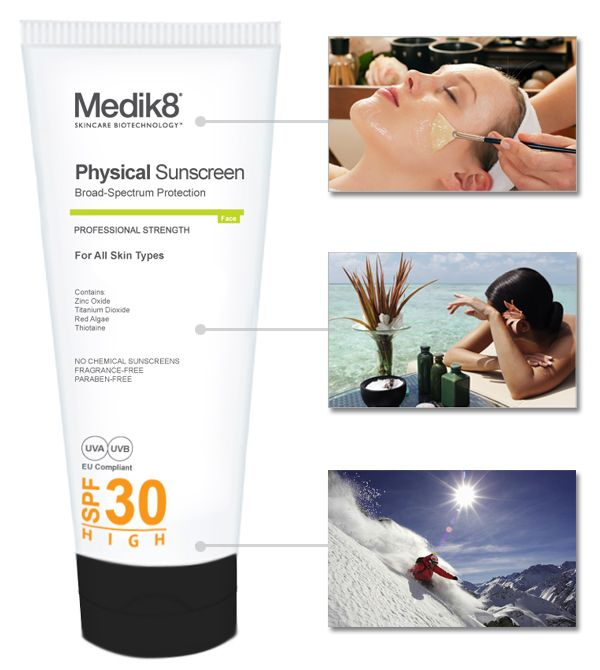 What are the types of physical sunscreen?