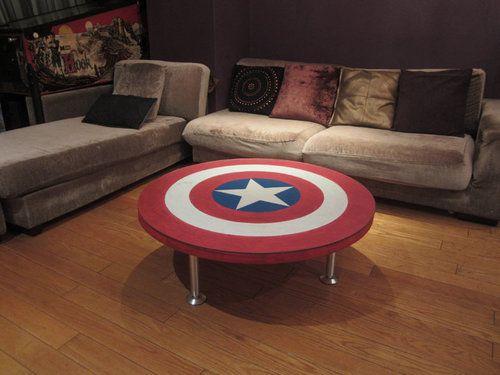 Captain America Coffee Table Covetous Pinterest Superhero