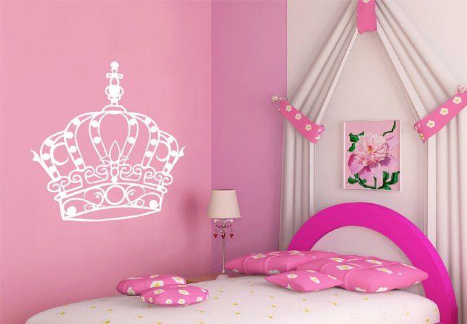 Kinderzimmerdekoration Wandtattoo Kinderzimmer Krone