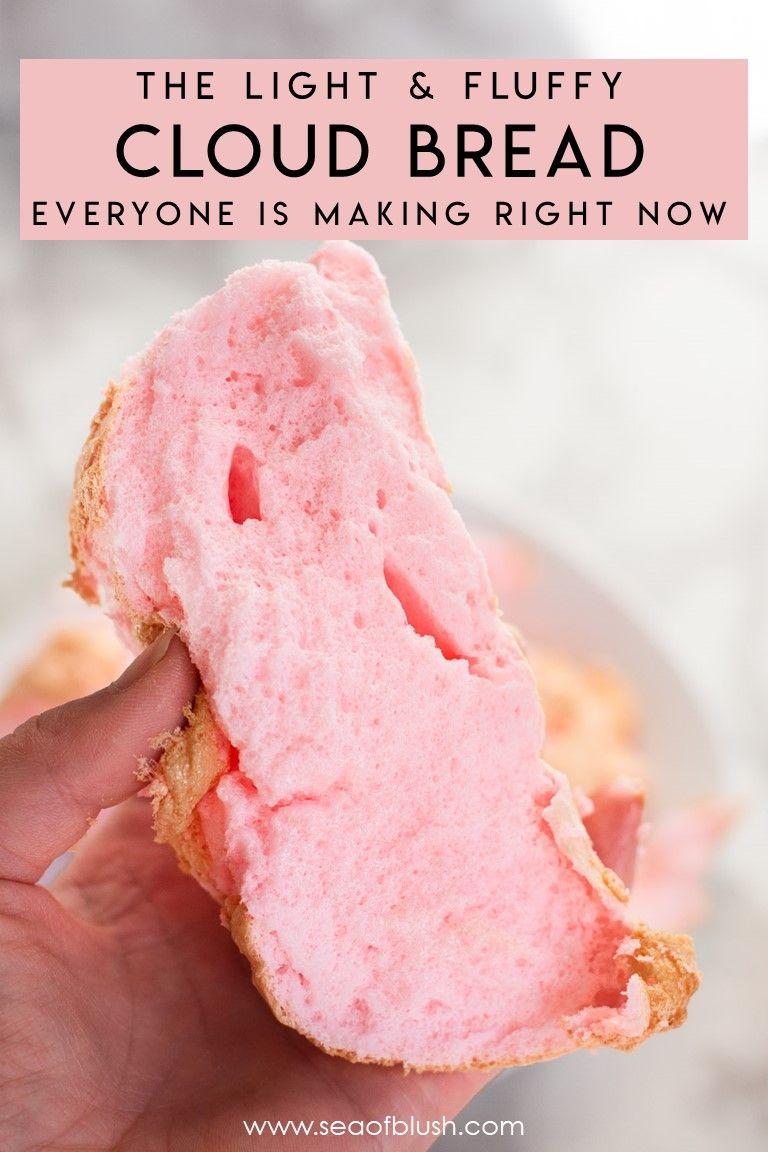 Tiktok Cloud Bread Recipe In 2020 Cloud Bread Bread Recipes Recipes