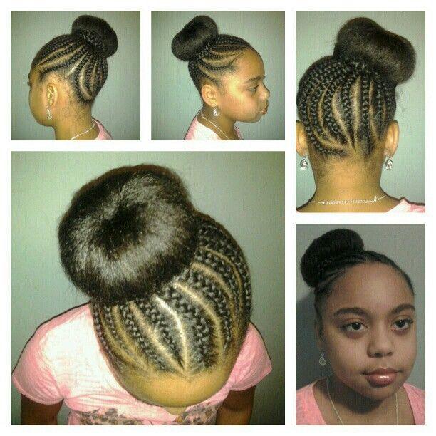 Natural Style Tweens Rock Braided Bun No Filler Kids Hairstylehairstyle