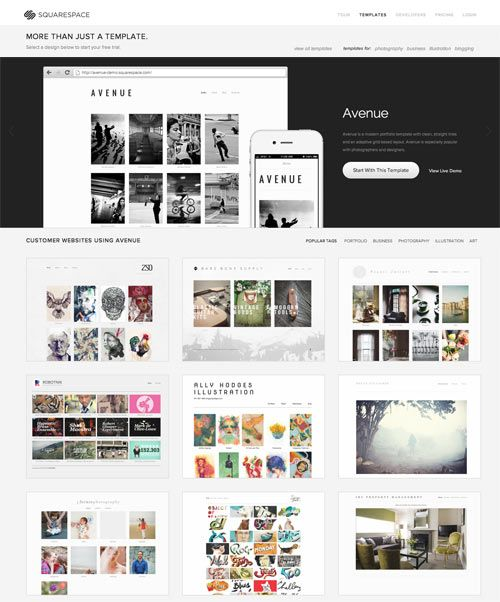Try On A New Website in the New Year with Squarespace | Template ...